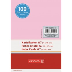 BR INDEX CARD A7 100/SET VE 2270020 ROSU