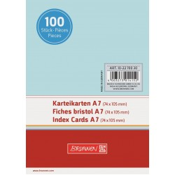 BR INDEX CARD A7 100/SET VE 2270030 ALBASTRU