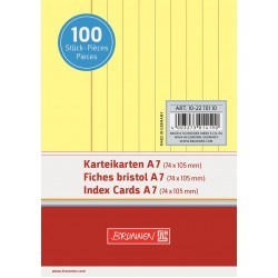 BR INDEX CARD A7 100/SET DR 2270110 GALBEN