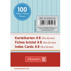BR INDEX CARD A8 100/SET DR 2282230 ALBASTRU