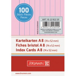 BR INDEX CARD A8 100/SET DR 2282220 ROSU
