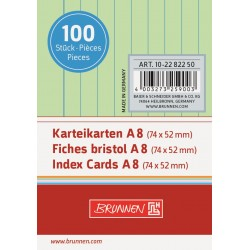 BR INDEX CARD A8 100/SET DR 2282250 VERDE