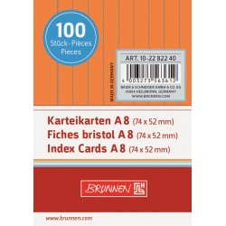 BR INDEX CARD A8 100/SET DR 2282240 ORANGE