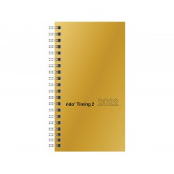 Br Agenda Datata Saptamanala Timing 2022 17.2*9.3cm Gold 14121912
