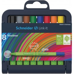 SCR FINELINER SCHNEIDER LINK-IT 0.4MM 8/SET