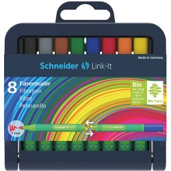 SCR FINELINER SCHNEIDER LINK-IT 1.0MM 8/SET