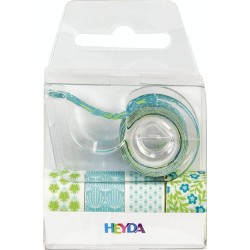 KP BANDA MINI DECOR HARTIE 12MM*3M HEYDA 5/SET VERDE 3584585