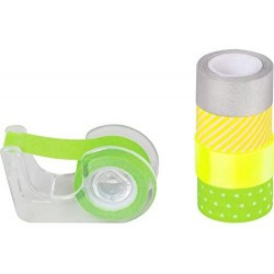 KP BANDA MINI DECOR HARTIE 12MM*3M HEYDA 5/SET VERDE NEON 3584575