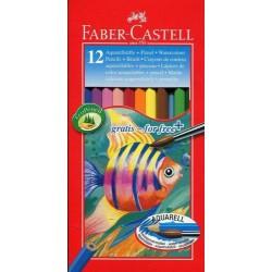 LEC CREIOANE COLORATE 12/SET AQUARELL FABER-CASTELL FC114413