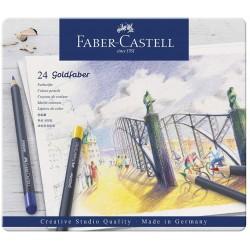 LEC CREIOANE COLORATE 24/SET GOLDFABER FABER-CASTELL FC114724 CUTIE METAL