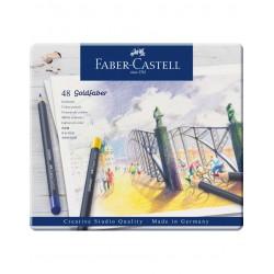 LEC CREIOANE COLORATE 48/SET GOLDFABER FABER-CASTELL  FC114748 CUTIE METAL