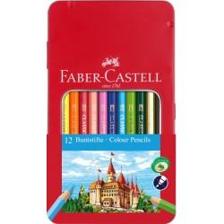 Lec Creioane Colorate Faber-castell Grip 12/set Fc115801 Cutie Metal