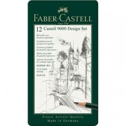 LEC CREION FABER CASTELL 9000 12/SET FC119064 CUT MET