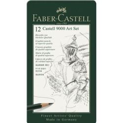 LEC CREION FABER CASTELL 9000 12/SET FC119065 CUTIE METAL