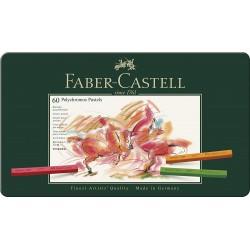 LEC PASTELURI CRETATE POLYCHROMOS 60/SET FABER-CASTELL FC128560