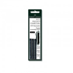 LEC SET CARBUNE DESEN FABER-CASTELL PITT COMPRESSED 3/SET EXTRA SOFT FC129996