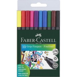 LEC FINELINER FABER-CASTELL GRIP 0.4 MM 10/SET FC151610