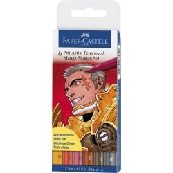LEC PITT ARTIST PEN FABER-CASTELL 6/SET MANGA SHONEN FC167131