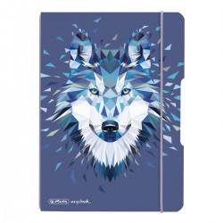He Caiet A5 40f My.book Flex, Punctat Motiv Wild Animals Wolf, Herlitz 50027286