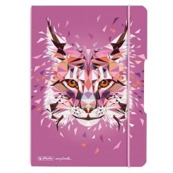 He Caiet A5 40f My.book Flex, Punctat Motiv Wild Animals Lynx, Herlitz 50027293
