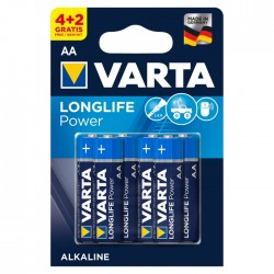 STA BATERII VARTA LONGLIFE POWER AA 6/SET LR06
