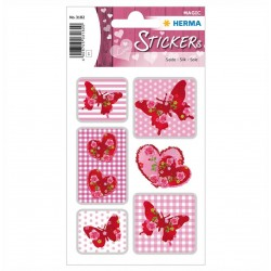 TOR STICKERE DECOR Stickers rose heart, silk HERMA 3182