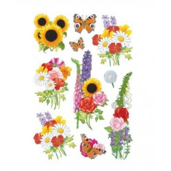 TOR STICKER DECOR MODERN FLOWERS 3369