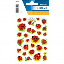 TOR STICK DECOR LADYBIRDS AND FLOWER HERMA 3815