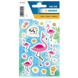 TOR STICK DECOR HERMA FLAMINGO PARTY TIME 15452