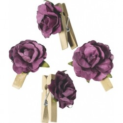 KP FLORI HARTIE DECOR 2.5CM 6/SET BORDO 7611014