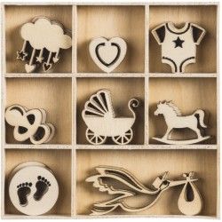 KP DECORATIUNI LEMN BABY2 45/SET 18521037
