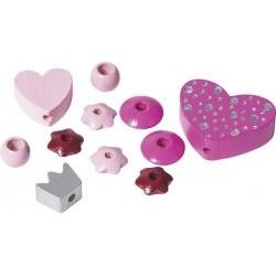 KP MARGELE LEMN MIX 11/SET HEART ROSE PINK 6023624