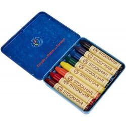 Br Set Creioane Cerate Rotunde Cutie Metalica 8/set Stockmar 4884208