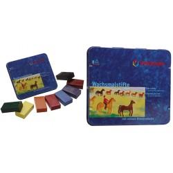 Br Set Creioane Cerate Patrate Cutie Metalica 8/set Stockmar 4884258
