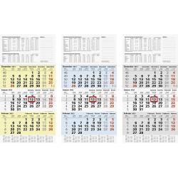 Br Calendar Perete 2022 Triptic Office Star 30*58cm 70210952
