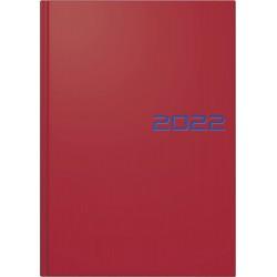 Br Agenda Datata Zilnic Brunnen A5 2022 Hard Cover Rosu 79561012