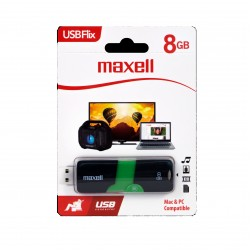 TEC FLASH USB 2.0 MAXELL 8GB NEGRU/VERDE