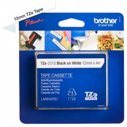 BANDA CONTINUA LAMINATA BROTHER TZE231S2 12MM*4M