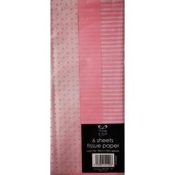CF TISSUE PAPER BABY PINK 50*70CM 6/SET 26763-LPC