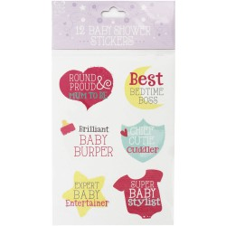 EWR STICKER BABY SHOWER 12/SET 21213-S