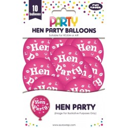 EWR SET BALOANE HEN PARTY 10/SET ROZ 13683-HP-1