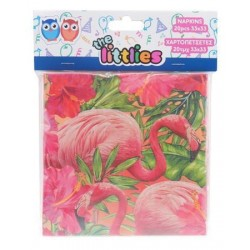 DIA SERVETELE 33*33CM 20/SET FLAMINGO 646616