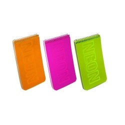 DIA NOTES CU SPIRA MUST 14.5*9CM PP NEON 40F VE 579697