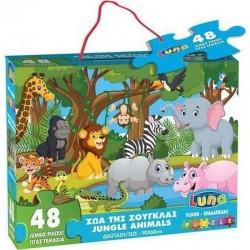 Dia Floor Puzzle 48 Piese 90*60cm Animale Jungla, Luna 621471