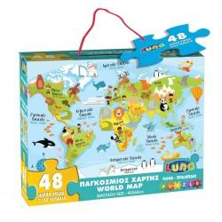 Dia Floor Puzzle 48 Piese 90*60cm Harti Din Lume, Luna 621473