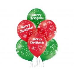 God Baloane Premium Balloons, 30cm, Merry Christmas, Pastel 6/set Brn_5000389