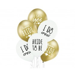 God Balon Latex Bride To Be 30cm 6/set Brn_5000764