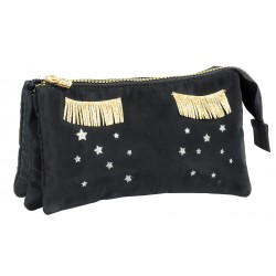 DKT NECESSAIRE MISS LEMONADE STAR DROPS, 3 COMPARTIMENTE, BLACK 63450