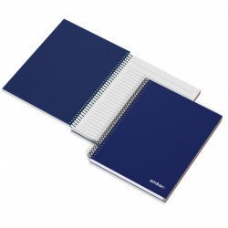 AM CAIET A5 120F SPIRA BLUE HARD COVER 166826 DR