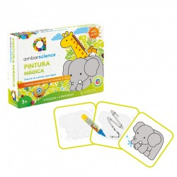 AM KIT MAGIC PAINTING SI PUZZLE ELEFANT GIRAFA IEPURE 600269